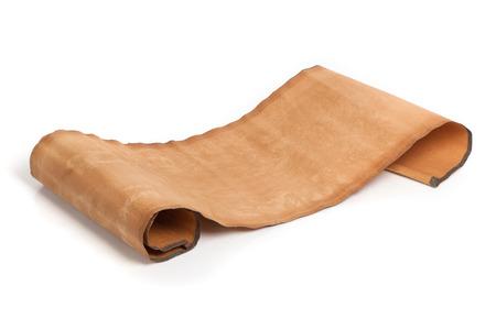Parchment scroll isolé sur fond blanc