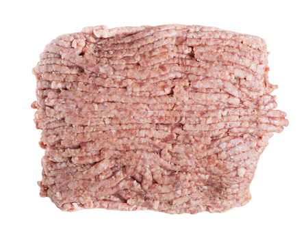 farce: Forcemeat isolated on white background Stock Photo