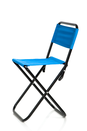 collapsible: Folding chair isolated on white background