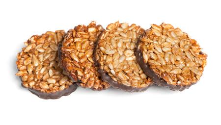Kozinaki cookies isolated on white background Stock Photo