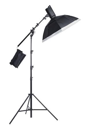 monolight: Studio light on stand isolated background