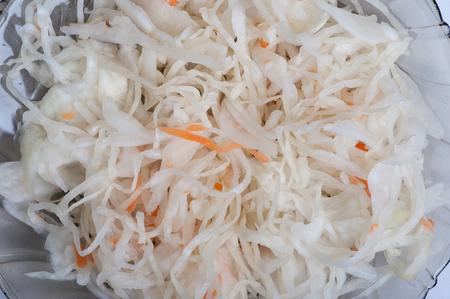 Sauerkraut salad background