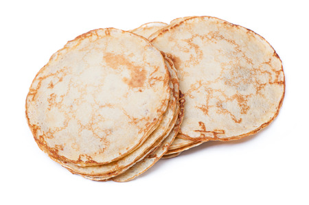 blini: Stack of thin pancakes isolated