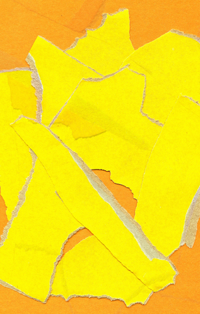 Texture of yellow parts of cardboard
