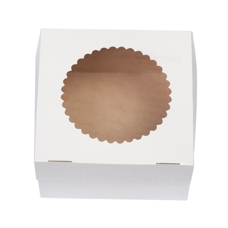 One white box isolated