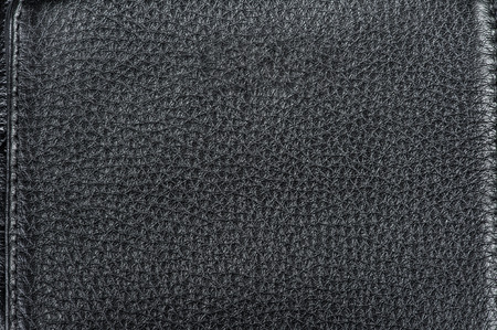 Close up of black leather texture background Фото со стока
