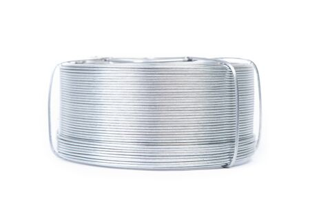 Coil of wire isolated on white background