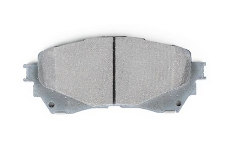 Single brake shoe isolated on white background