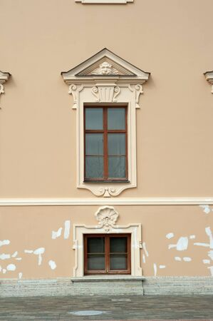 Windows of the old historic building