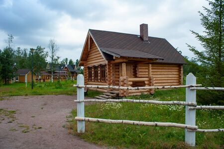 Old wooden house in Russia Banque d'images