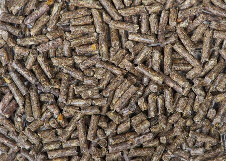 Lots of dry grass pellets for background or texture