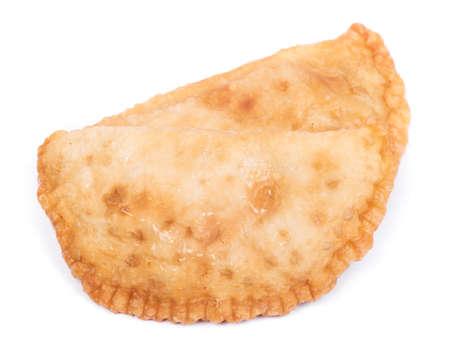 Belyash (beliash), meat pie isolated on white background