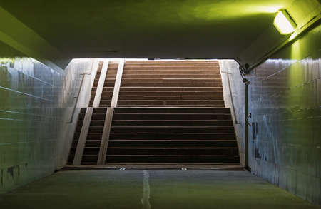 Staircase in the underpass, exit to city street