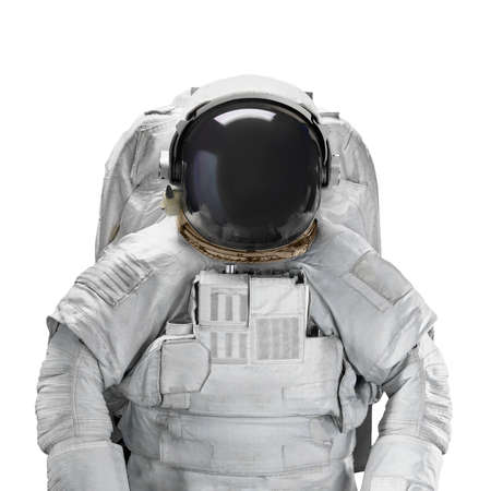 Space suit astronaut isolated on white background. Elements of this image furnished by NASA