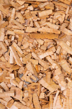 Full background of wood chips, texture