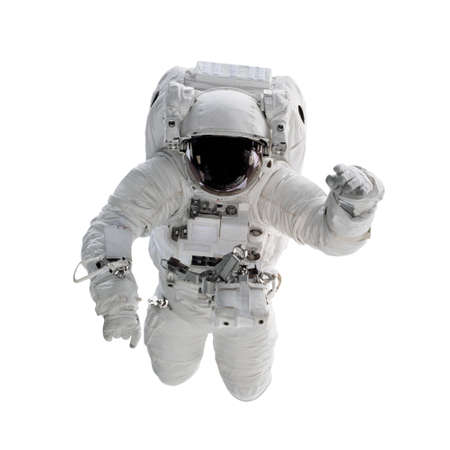 Astronaut in space suit isolated on white background