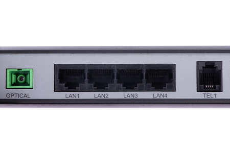 Old LAN network and internet connection, RJ45 with dust