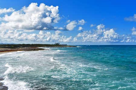 panorama of the Atlantic coast. Dominican Republic