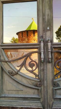 Reflection of the Kremlin in the Door