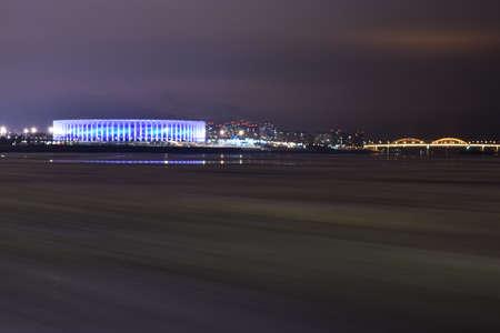 Nizhny Novgorod glows at night Stock fotó