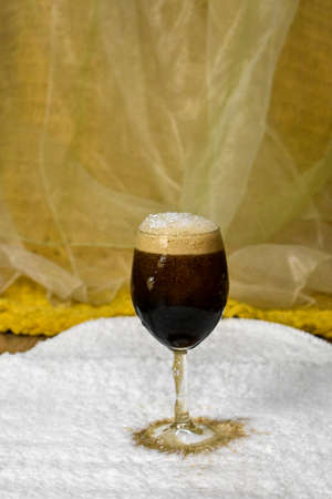 fizzy drink poured into a glass