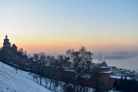 The Kremlin at sunset. Nizhny Novgorod