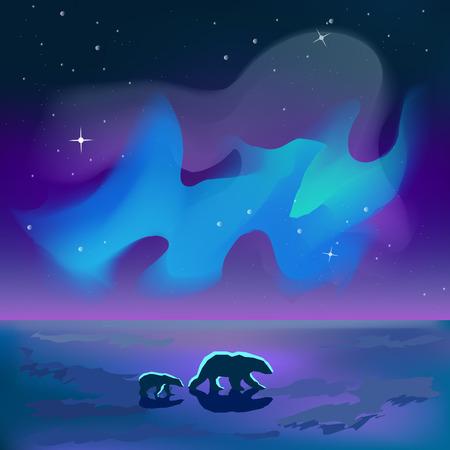 wasteland: Two polar bears go through the wasteland and the way they glow illuminates Sevren Illustration