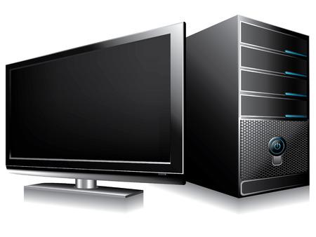 Desktop PC Illustration