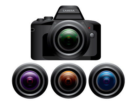 dslr camera: Objetivos de c�mara r�flex digital
