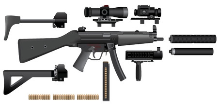 machine gun: sub-machine gun heckler mp5