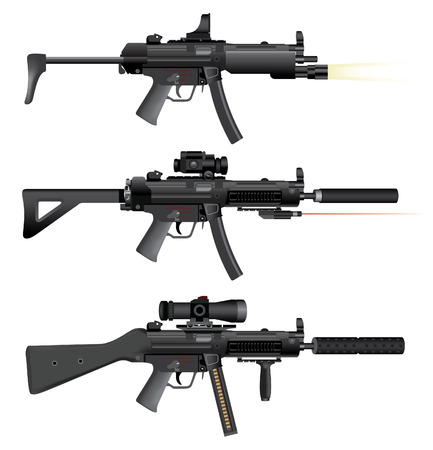 Machine Gun heckler mp5 Illustration