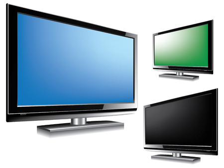 LCD Television Stock Vector - 7552595