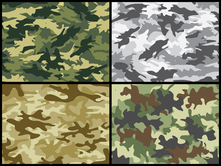 undercover: Camouflage militare insieme  Vettoriali