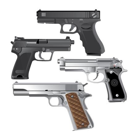 handgun, Pistol Illustration