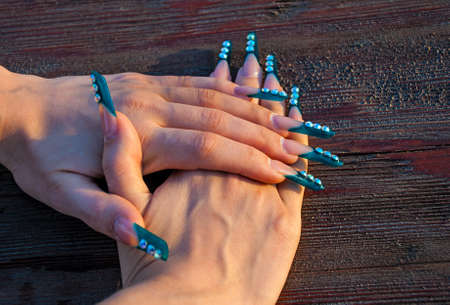 nails: hands with graft nails