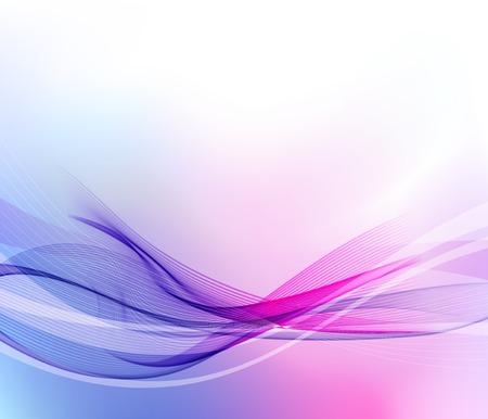 Illustratie Abstracte achtergrond met kleurgolf
