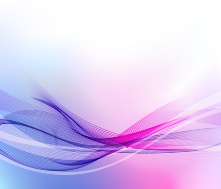 illustration Abstract background with color wave Vettoriali