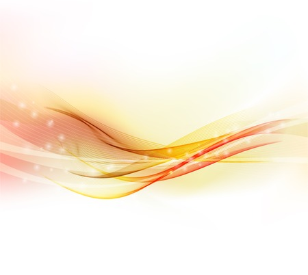 illustration Abstract colorful background with red smoke wave