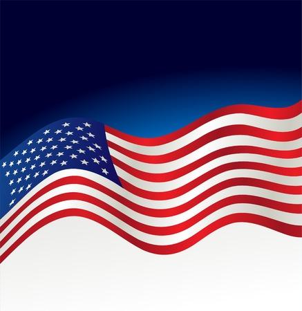 bandera blanca: ilustraci�n abstracta fondo patri�tico. Bandera de EE.UU. Vectores