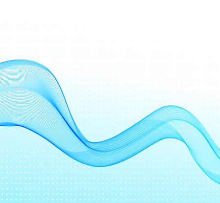 illustration Abstract colorful background with blue wave Illustration