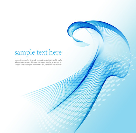Blue wave line abstract background.