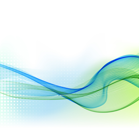 blue and green: illustration Abstract colorful background with color smoke wave