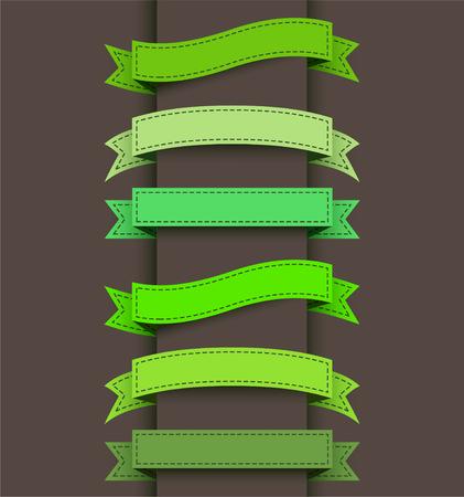 Ensemble de bannières de ruban de couleur. Banque d'images - 47827150