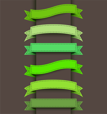 banner design: Set of colored ribbon banners.