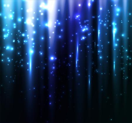 ベクトル図の抽象的なカラフルな背景。青魔法の光