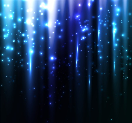 Vector illustration Abstract colorful background. Blue magic light