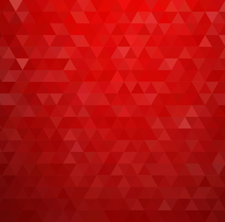 geometric design: Abstract colorful background. Red triangles pattern