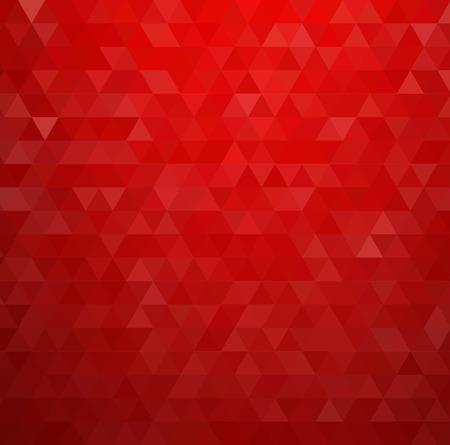 Färgrik abstrakt bakgrund. Röd trianglar mönster Illustration