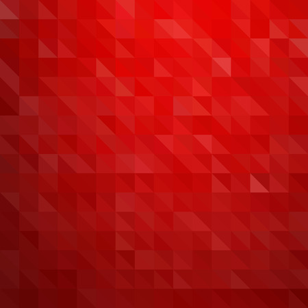 christmas red: Abstract colorful background. Red triangles pattern
