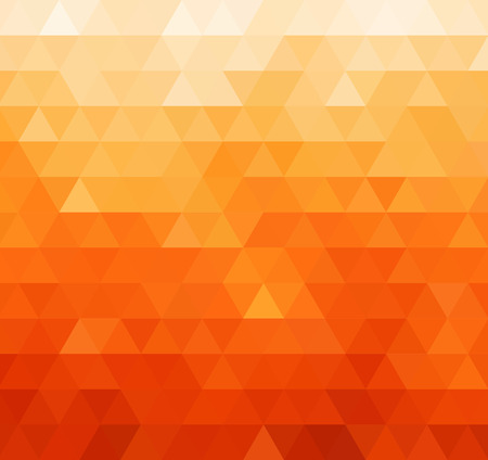 Abstract color geometric mosaic background. Orange triangles